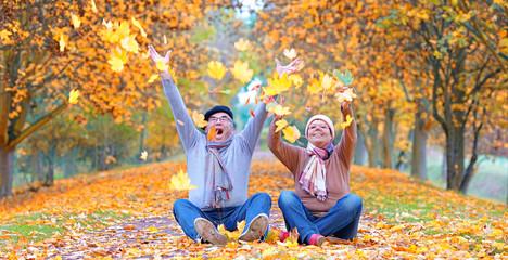 Lebensfreude und Spaß im Herbst