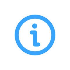 Vector illustration of minimalistic flat Information Icon. Info symbol.