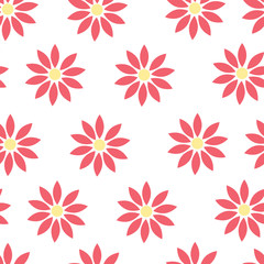 Seamless Pattern. Flowers.