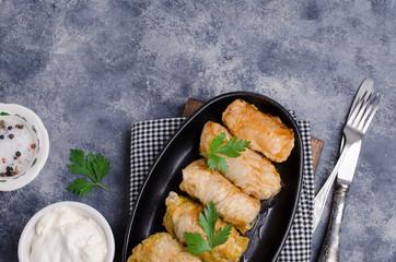 Fried stuffed cabbage
