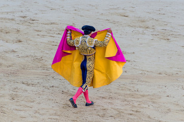 torero raising his capote
