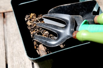 Gardening equipment concept image.