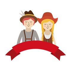 Isolated cartoons of Oktoberfest design