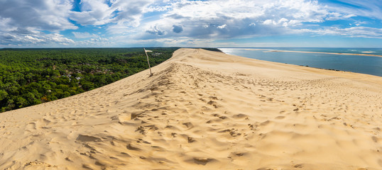 Panorama of the Pyla sand dune in France