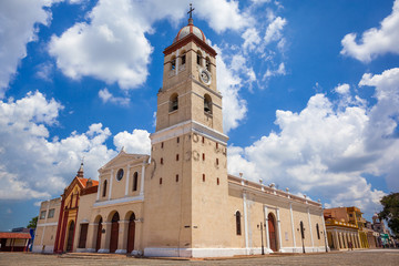 The cathedral of Bayamo (Catedral del Salvador de Bayamo), Cuba. Built in 1520, it is the second oldest church of Cuba.