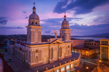 View of the cathedral of Nuestra Senora de la Asuncion, Santiago de Cuba, Cuba