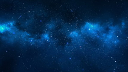 abstract background with stars and nebula
