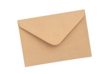 Briefumschlag auf weißem Hintergrund