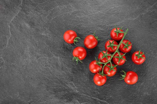 Cherry Tomatos top view