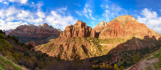 Zion National Park East Temple Panoramic View, Utah