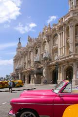 Gran Teatro De La Habana Alicia Alonso , Old car, Streetlife, People