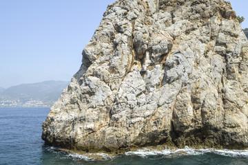 Большая скала,выпирающая в море.