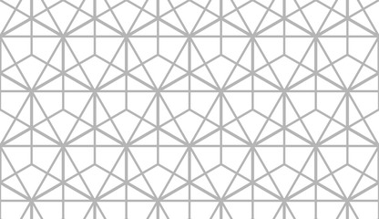 The geometric pattern with lines. Seamless vector background. White and grey texture. Graphic modern pattern. Simple lattice graphic design.