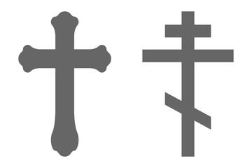 Set of Orthodox crosses. Vector.