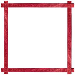 Red ribbon Chrispmas frame