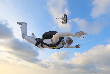 Skydiver Fallschirmspringer