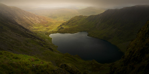 Wall Mural - Cadair Idris in Snowdonia National Park, Wales, Uk, just before a storm front came rolling in