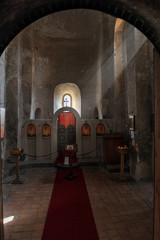 Inside the 9th - 10th century basilica in Uplistsikhe cave town, Shida Kartli, Gori, Georgia