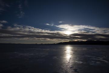 Sunset at Salar de Uyuni