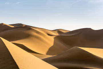 Photo sur Plexiglas Secheresse desert sand dunes at dusk