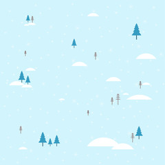 Winter landscape. Snow and snowdrift. Background for Christmas greeting card