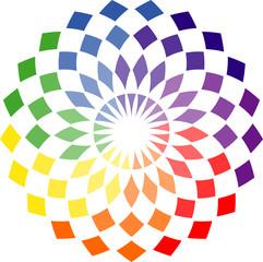 Rosace multicolore