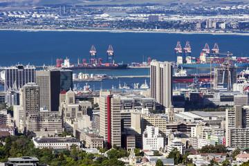 Kapstadt Hafen von oben