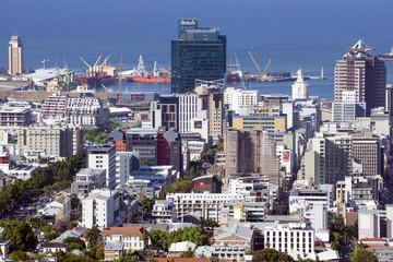 Kapstadt Stadtzentrum von oben