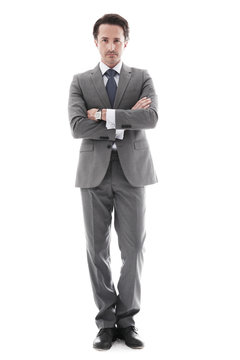 Full body portrait of business man