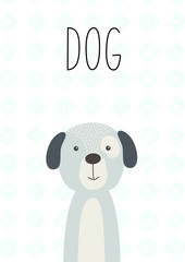 Cute dog. For posters, cards, banners, t-shirts
