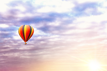 Balloon ride at sunrise