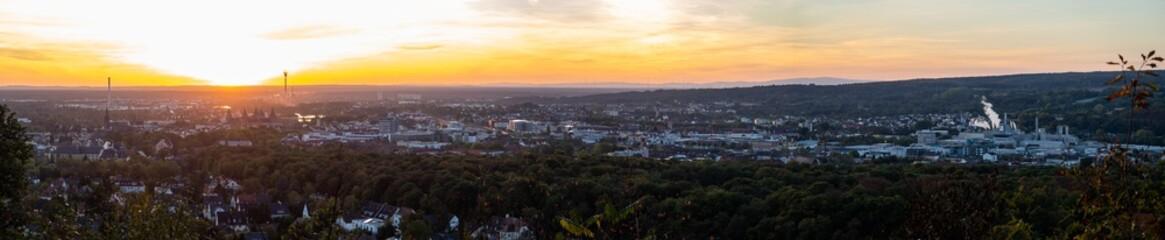 Big Panorama over Aschaffenburg at Sunset