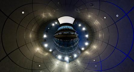 360 degrees panorama of cinema hall, mini planet style