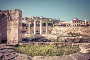 Library of Hadrian, Athens, Greece