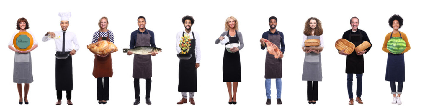 Group of people with food