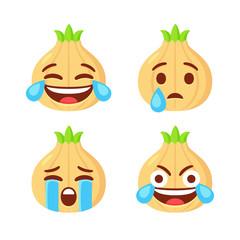 Onion emoji set