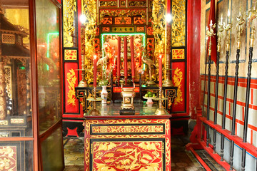 Sa Dec; Socialist Republic of Vietnam - august 18 2018 : Kien An temple