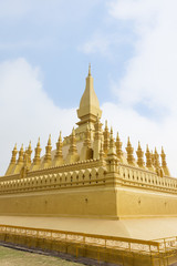 Pha That Luang, Great Stupa, is a gold-covered large Buddhist stupa in Vientiane. It is the most important national monument and a national symbol in Laos.