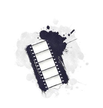 Watercolor grunge movie icon
