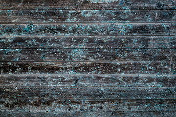 Cracked painted wooden background. Aged wood texture. Vintage style
