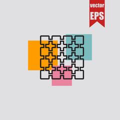 Metal grid icon.Vector illustration.