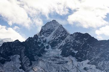 Thamserku mount in Sagarmatha National park, Nepal Himalayas