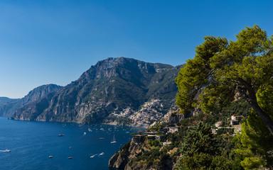 Positano an der Amalfiküste; Italien