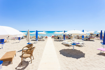 Lido Venere, Apulia - Runway to the beautiful beach of Spiaggia di Posto Vecchio