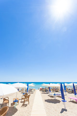Lido Venere, Apulia - The sun is burning hot at the beach of Lido Venere