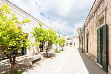 Specchia, Apulia - Walking through an old alleyway in Specchia