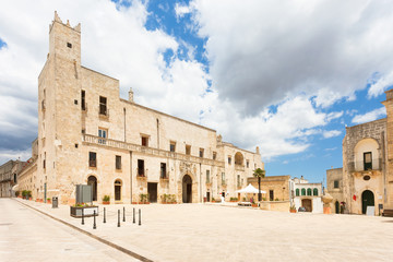 Specchia, Apulia - Marketplace in front of the historic city hall