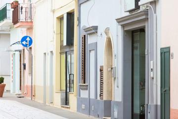 Specchia, Apulia - Colorful old facades in the old town of Specchia