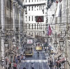 Tramway au coeur de Lisbonne