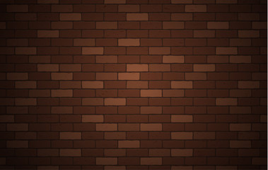 Brown brick wall texture or background with copy space for display of content design for advertisement product. Vector illustration